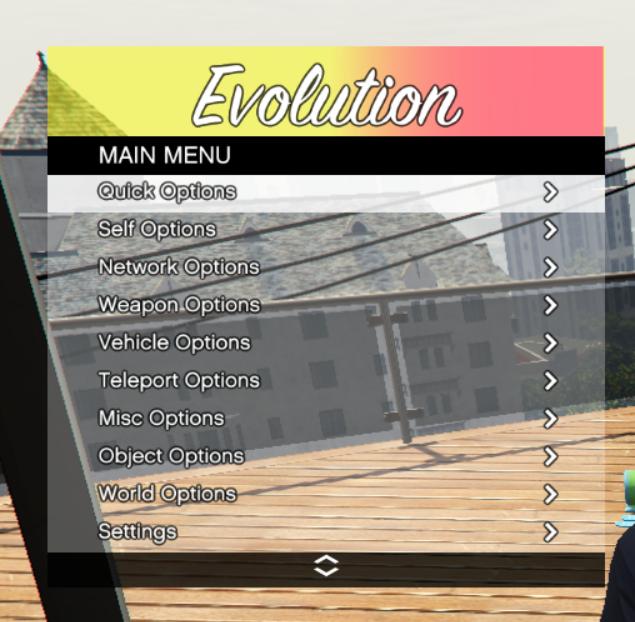GTA V PC Online 1 44 Mod Menu - Evolution v3 0 - Grand Theft